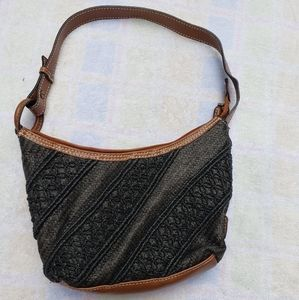 Vintage 90's Tommy Hilfiger Straw Basket Weave Bag